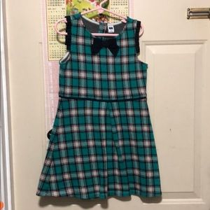 Girl dress plaid great condition